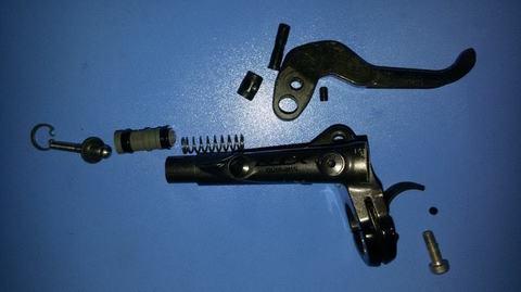 Как разобрать тормозную ручку Shimano XTR