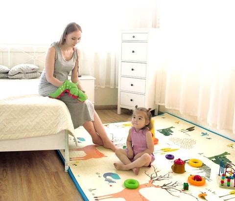 Детские коврики для ползания вспененные