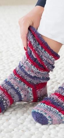Носки из толстой пряжи