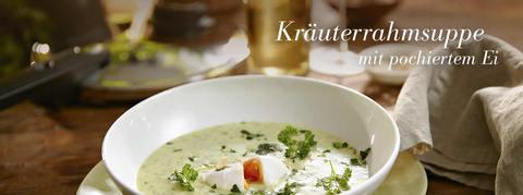 Суп из зелени с яйцом-пашот