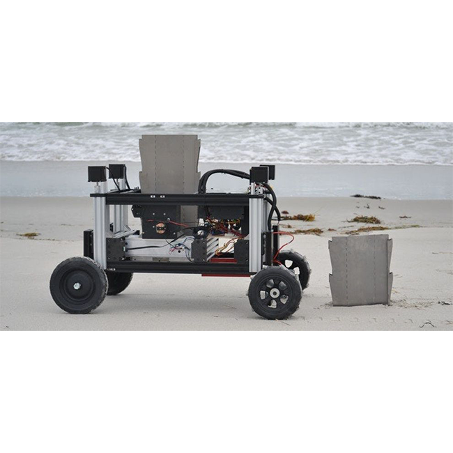 Робот Romu сооружает укрепления из свай
