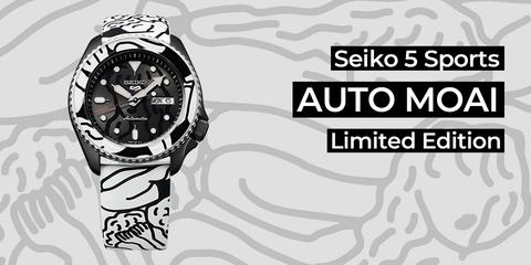 Seiko 5 Sports Auto Moai - лимитированная серия.