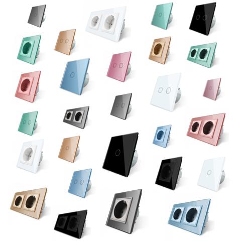 7 цветов сенсорных выключателей LIVOLO