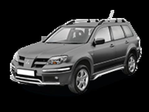 Багажники на крышу Mitsubishi Outlander I 2003-2005 на рейлинги