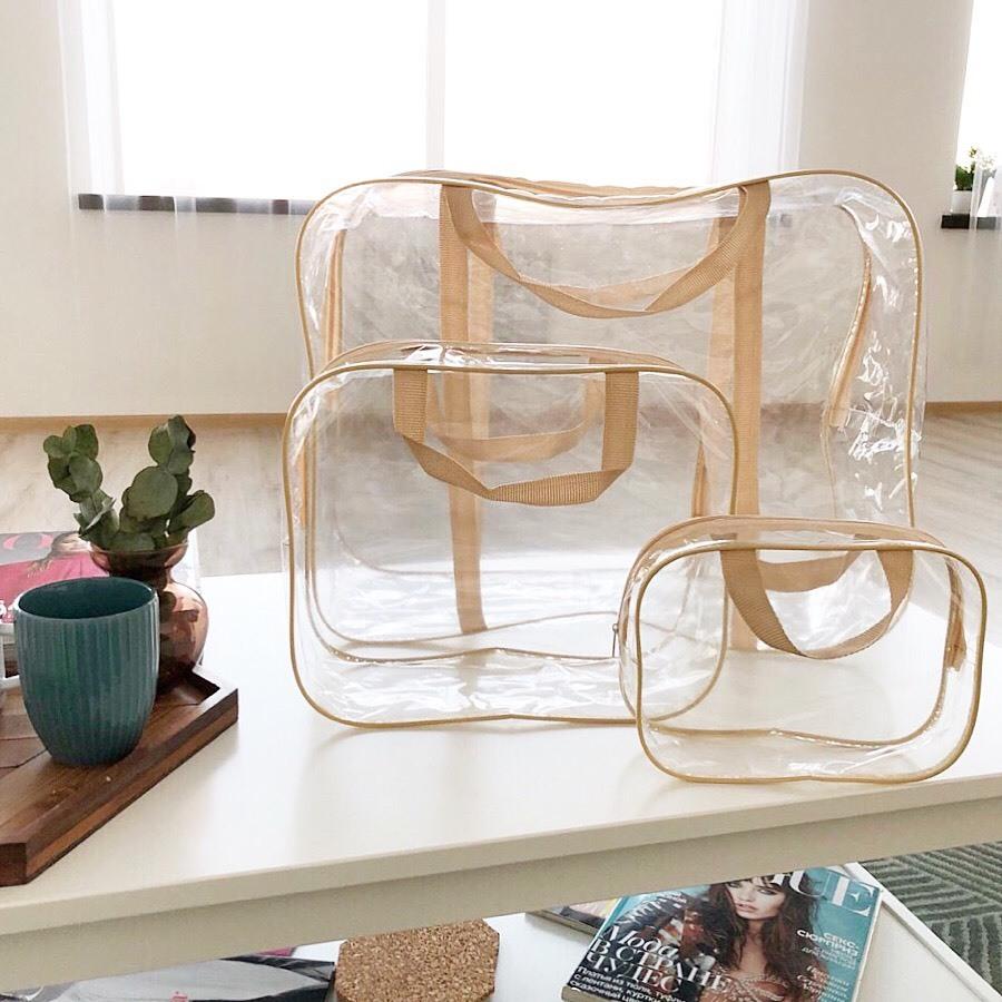 Прозрачные сумки в роддом
