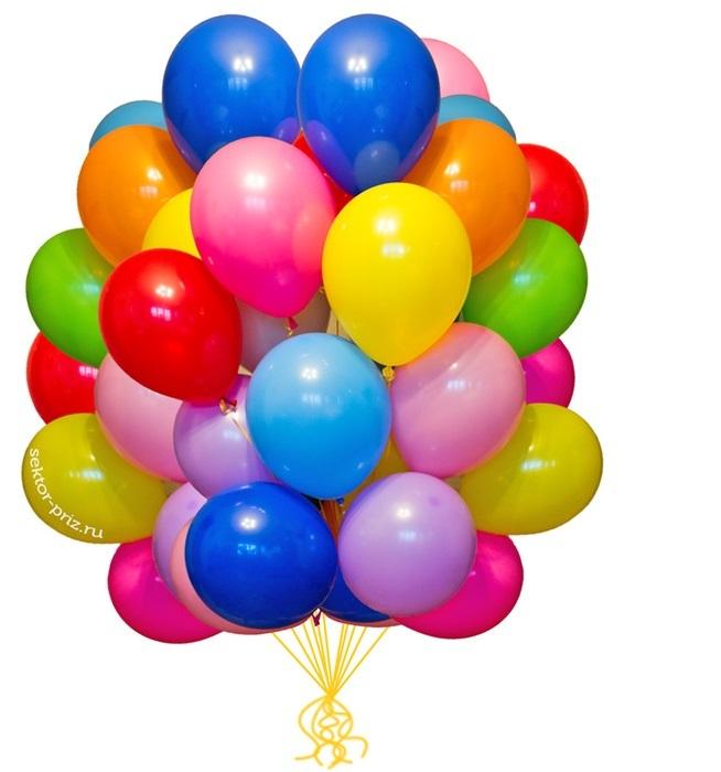 Гелиевые шары (Надутые и обработанные HI-FLOAT)