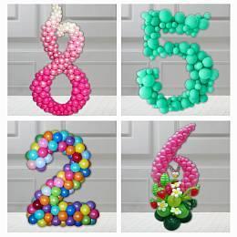 Цифры и буквы из шариков
