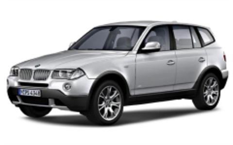 Багажники на BMW X3 E83 На рейлинги 2003-2010