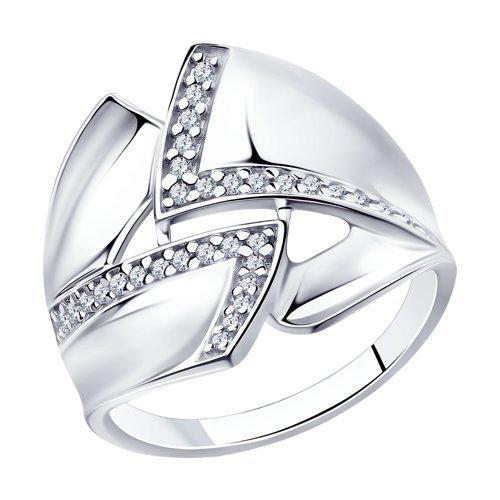 Кольца серебро с фианитами