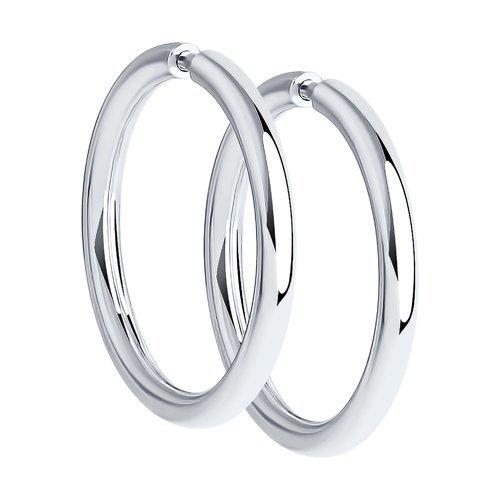 Серьги -конго серебро