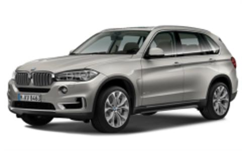 Багажники на BMW X5 F15 низкие рейлинги