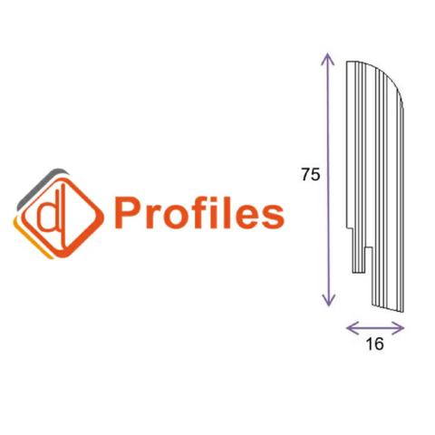 Шпонированный плинтус DL Profiles 75х16
