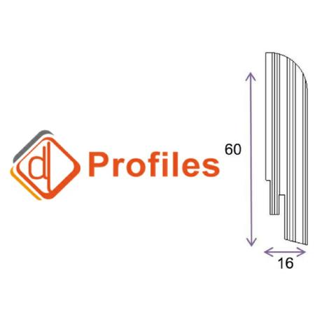 Шпонированный плинтус DL Profiles 60х16