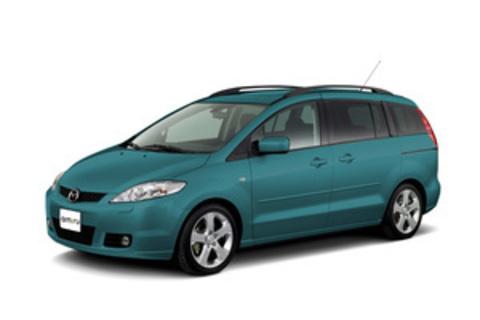 Багажники на Mazda 5 Минивен 2005-.... Штатные места