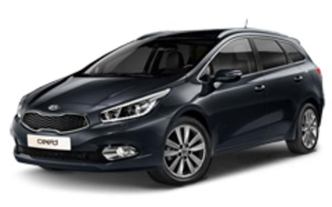 Багажники на Kia Ceed II 2012-2018 универсал низкий рейлинг