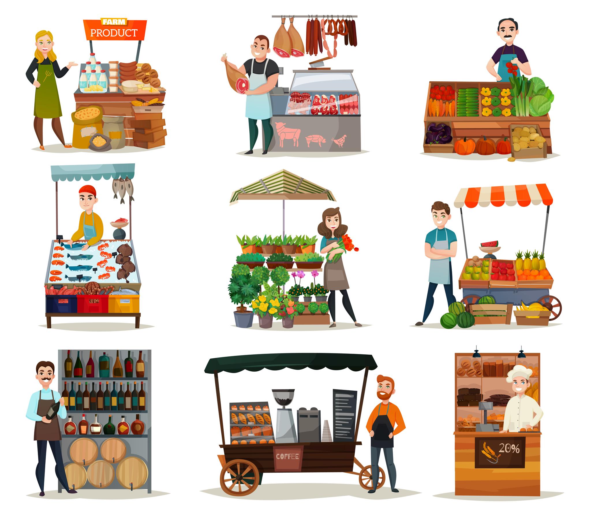Продуктовые магазины