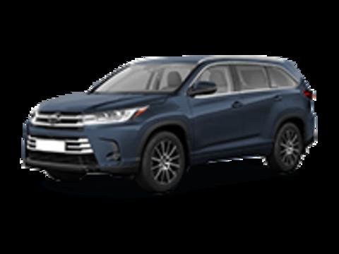 Багажники на Toyota Highlander III 2014-2019 штатное место