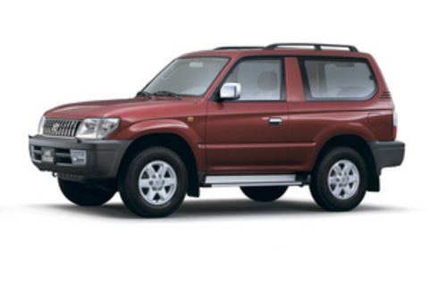 Багажники на Toyota Land Cruiser 90 Prado 1996-2002 на рейлинги