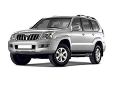 Багажники на Toyota Land Cruiser 120 Prado 2002-2009 на рейлинги