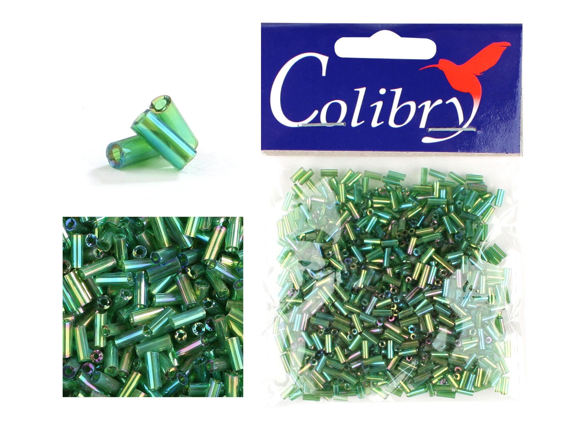 Бисер стеклярус Colibry
