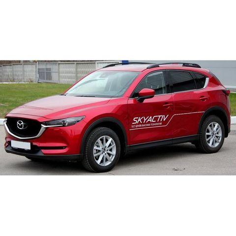 Багажники на Mazda CX-5 2011-... с рейлингами