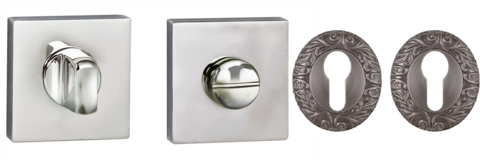 Завертки сан-технические и накладки  на цилиндр для межкомнатных дверей.