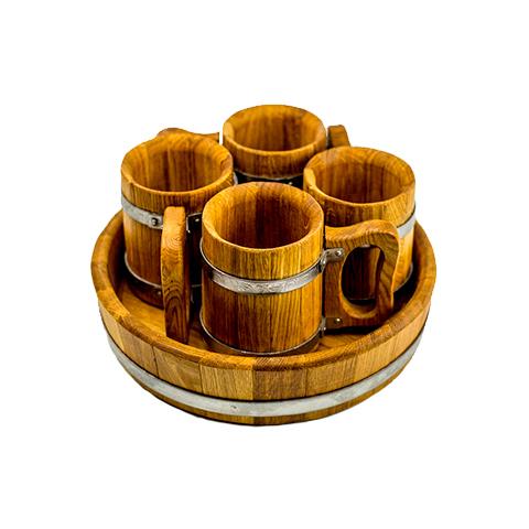 Деревянные кружки