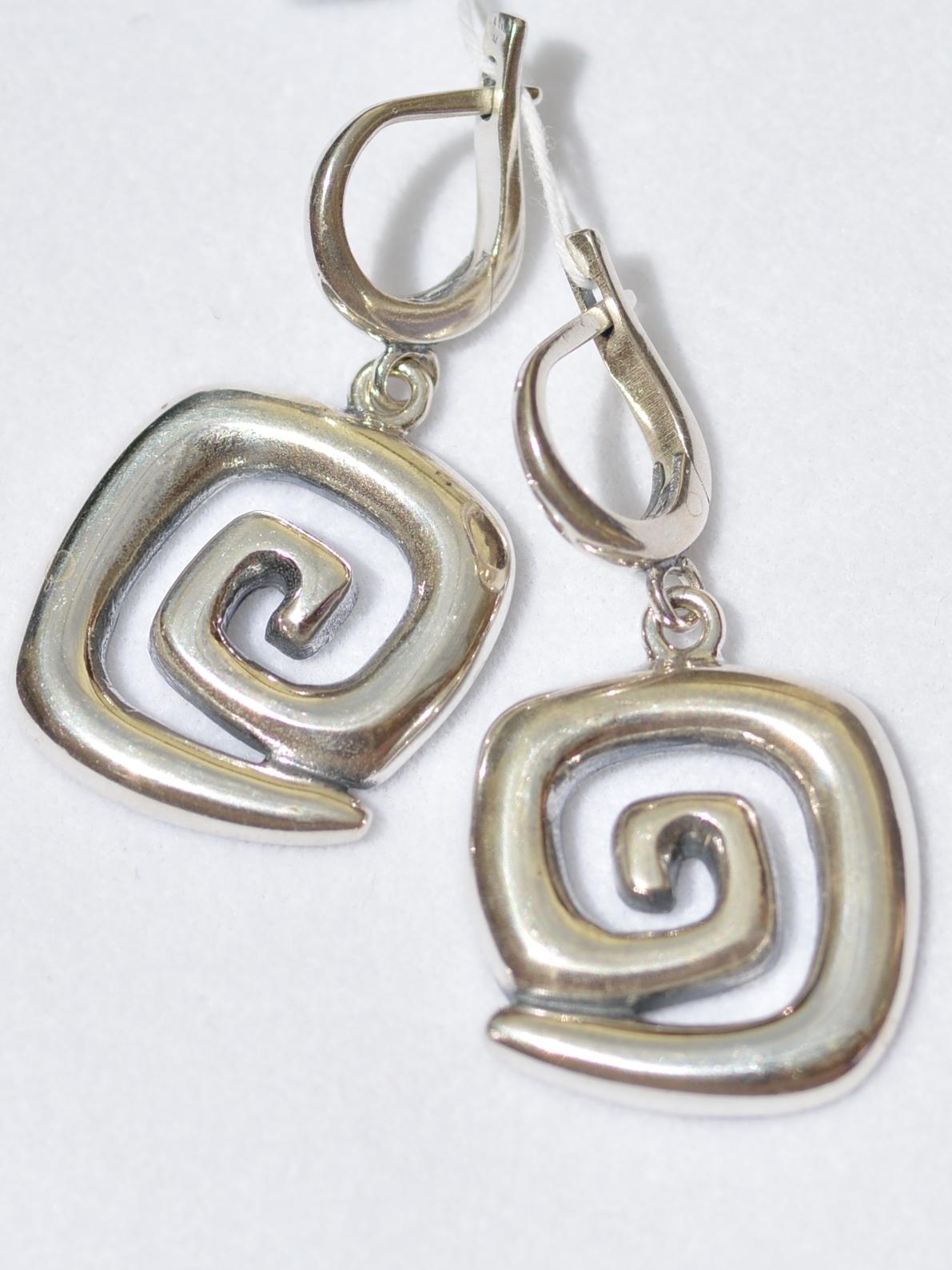 Серебряные серьги без камней
