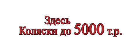 Коляски до 5000 рублей