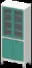 Шкафы лабораторные двухсекционные
