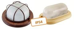 Светильники НПБ с деревянным основанием