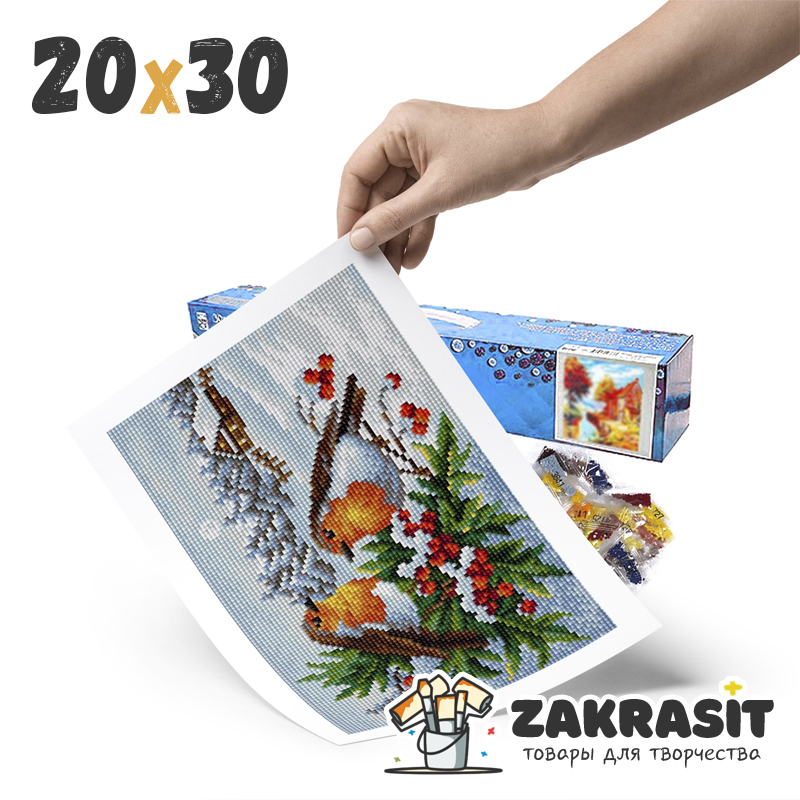 Алмазные мозаики 20х30 без подрамника