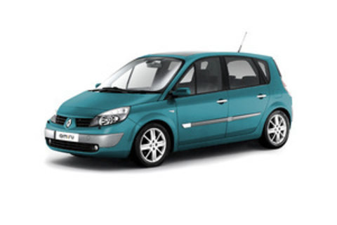 Багажники на Renault Scenic II 2003-2009 штатные места