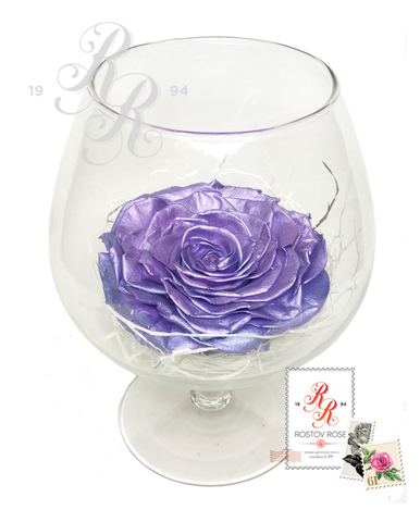 Розы стабилизированные в бокале