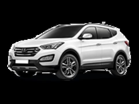 Багажники на Hyandai Santa Fe III 2012-2018 на низкие рейлинги