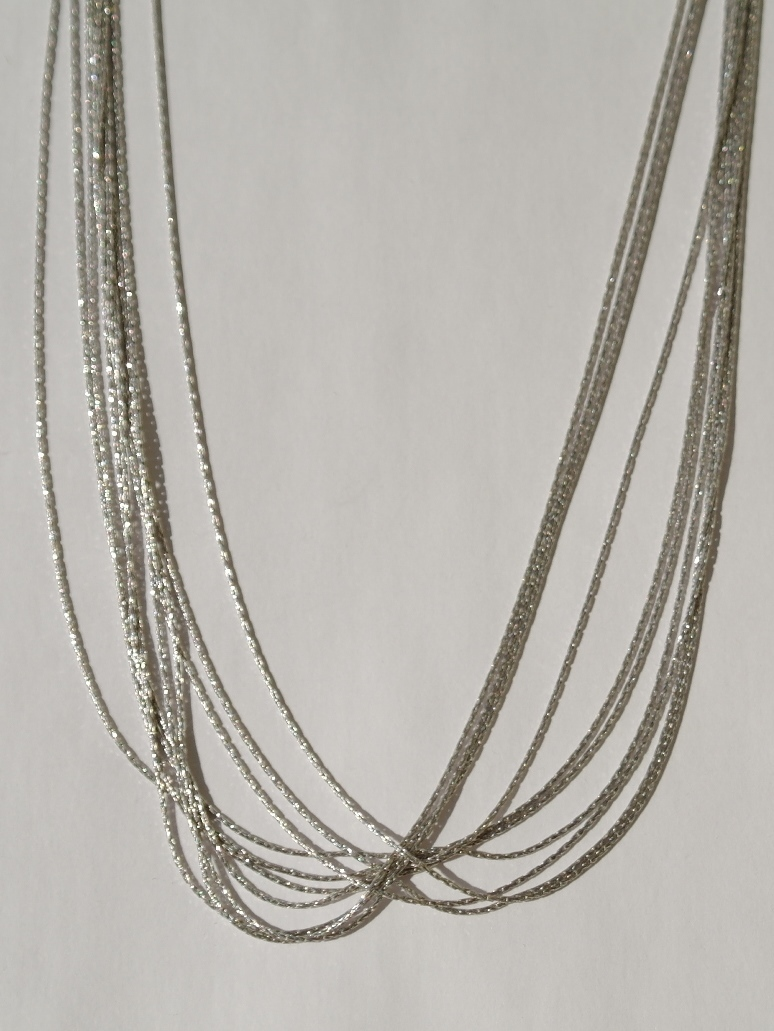 Серебряные цепочки многорядные