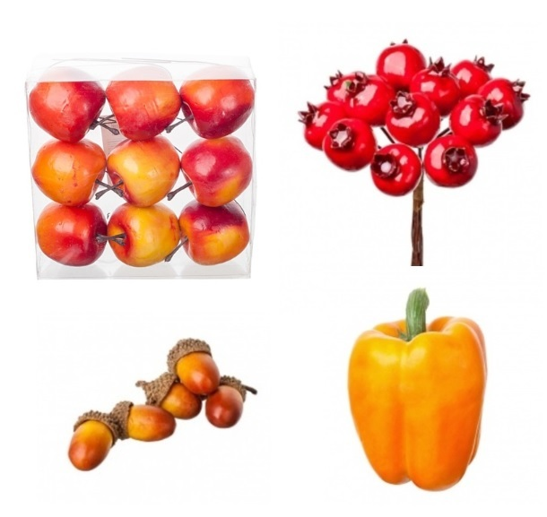 Искусственные фрукты, овощи
