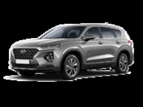 Багажники на Hyandai Santa Fe IV 2018-2019 на низкие рейлинги