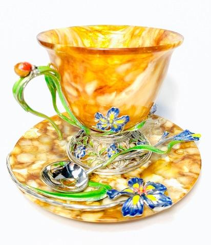 Чайные пары из янтаря