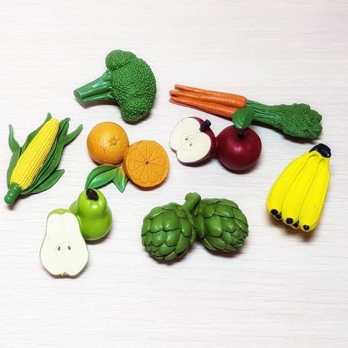 Фигурки овощей, фруктов, деревьев