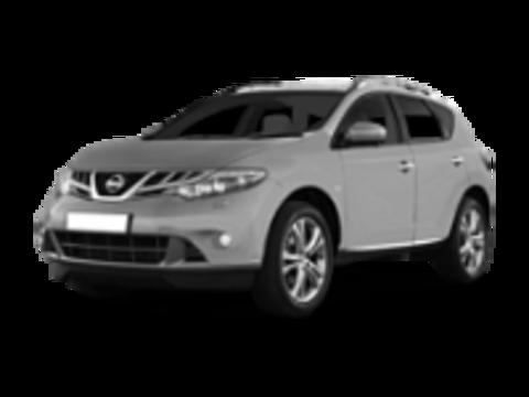 Багажник на крышу Nissan Murano 2007-2015 на рейлинги с просветом