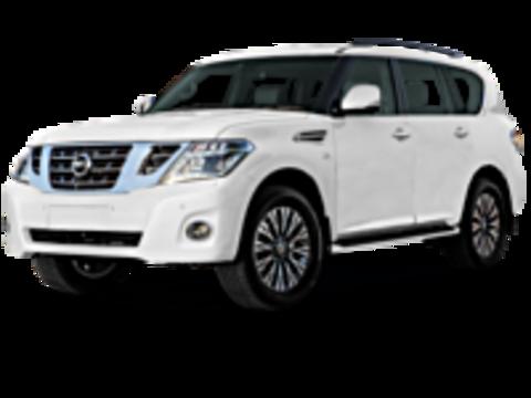 Багажники на крышу Nissan Patrol Y62 2010-2019 на рейлинги