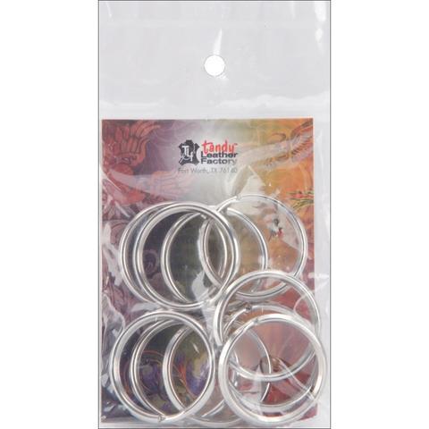 Комплект разьемных колец -Nickel Split Key Rings 3 см- 10 шт