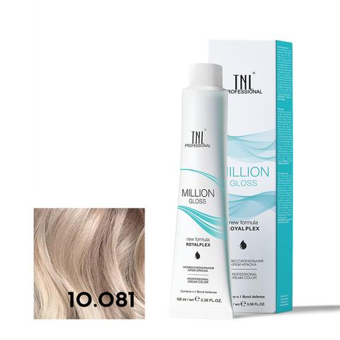 Крем-краска для волос TNL Million Gloss оттенок 10.081 Платиновый блонд пастельный ледяной 100 мл