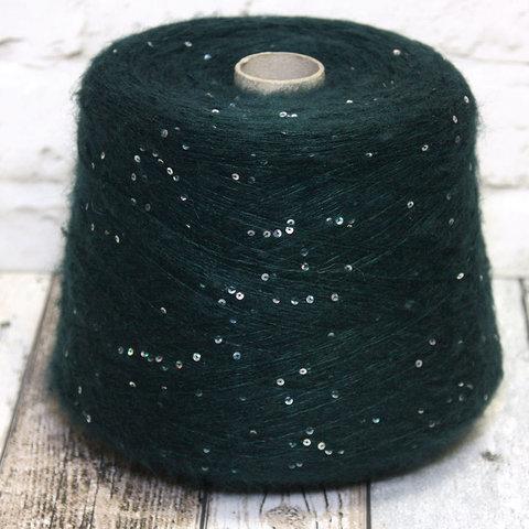 Мохер с пайетками LAGOPOLANE / KIDPAI зеленый