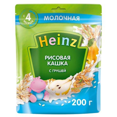Каша Heinz молочная рисовая c грушей с Омега 3, 4+ мес