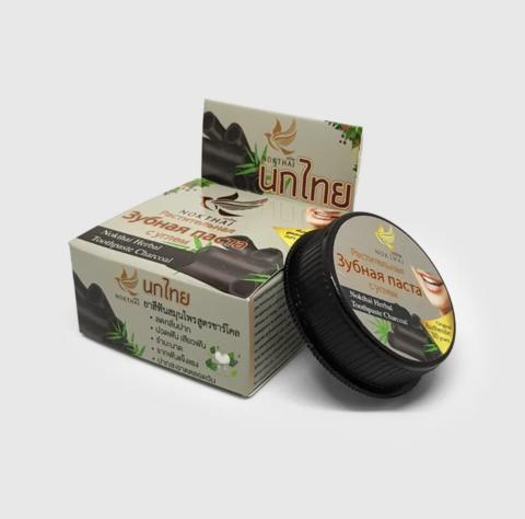 Растительная зубная паста с углем Herbal Toothpaste Charcoal, ТМ NOKTHAI