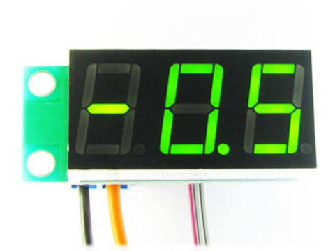 Встраиваемый цифровой термометр с выносным датчиком, ультра-яркий зеленый индикатор
