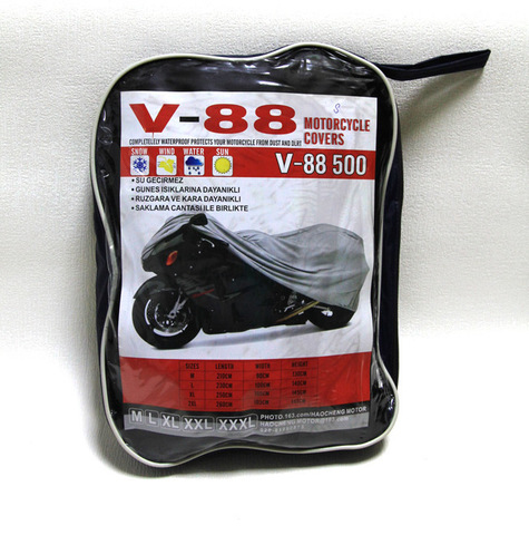 Чехол для мотоцикла с логотипом Kawasaki черный