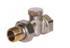 """Клапан обратного потока Ду20  Rp3/4""""-R1/2""""запорно-регулировочный для однотрубной системы, прямой"""